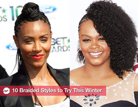 A braided hairstyle can make afro-textured hair look really fly,