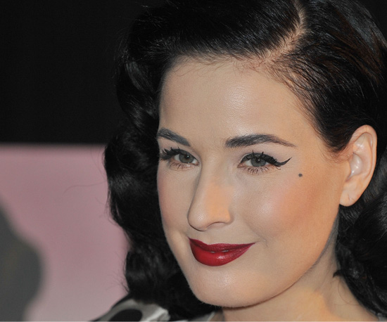 dita von tease makeup. Dita Von Teese has been known