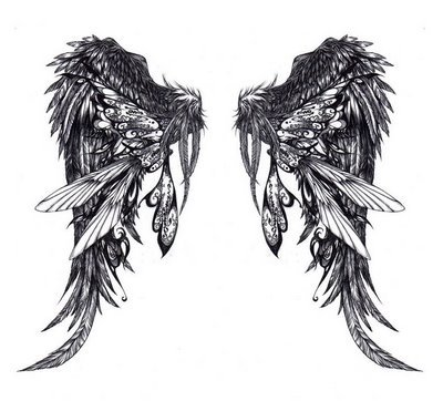 Angel Wing Tattoos on Angel Wing Tattoo Design Jpg