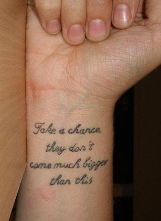 Love Quotes Tattoos design