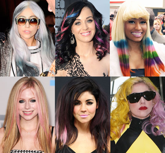 This year was a banner year for coloured hair extensions — certainly for