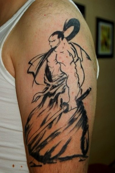 Samurai items are popular in Japanese tattoo designs, because the warriors