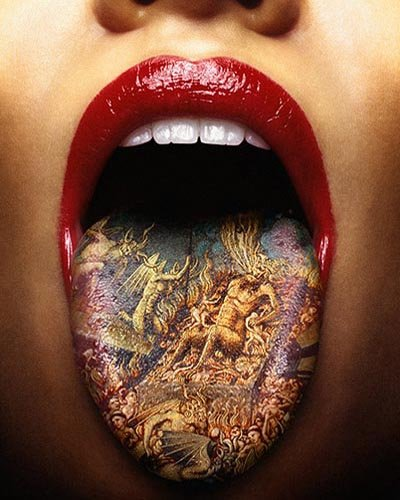Although many aren't familiar with tongue tattoos yet, they are just now