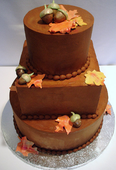 Unique Fall Cupcake Wedding Cakes