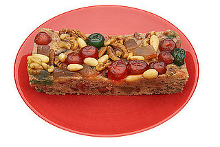 Fruitcake on plate