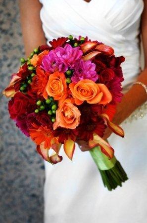 Exotic October Wedding Flowers