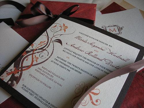 Wonderful Fall Wedding Invitations Cheap