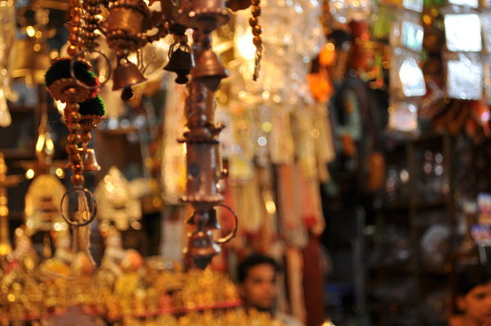 Bells at a market