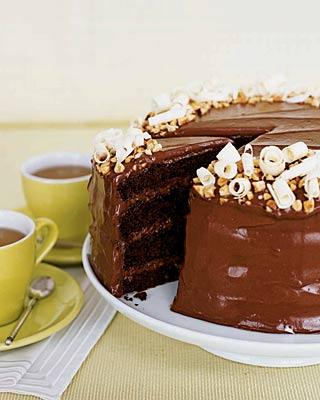 Chocolate Hazelnut Layer Cake Recipe | POPSUGAR Food