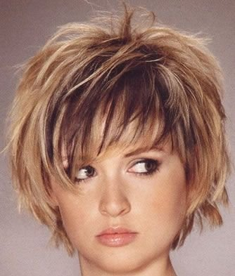 Funky and coloured short hairstyle for girls