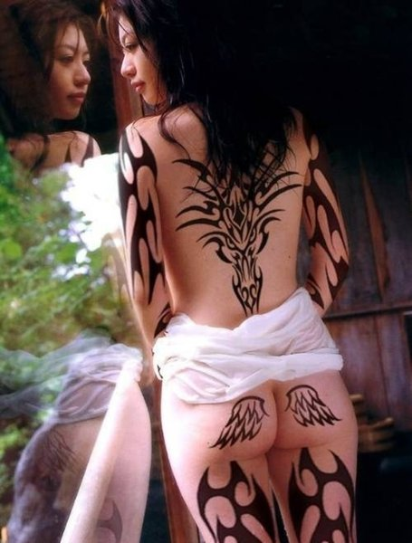 One of the most popular tribal tattoos for men is back tribal tattoos upper