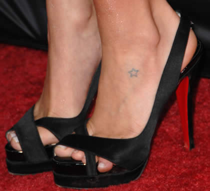 Foot tattoo designs for women stars. Star Ankle Tattoo Designs Kristin Cavallari small star tattoo on foot.