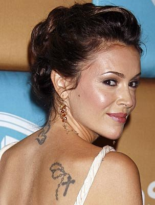 Alyssa Milano ankle tattoos