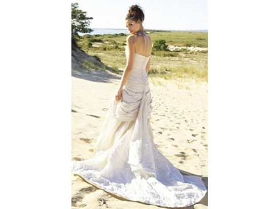 Nicole Miller Hg0013. Metal taffeta wedding dress