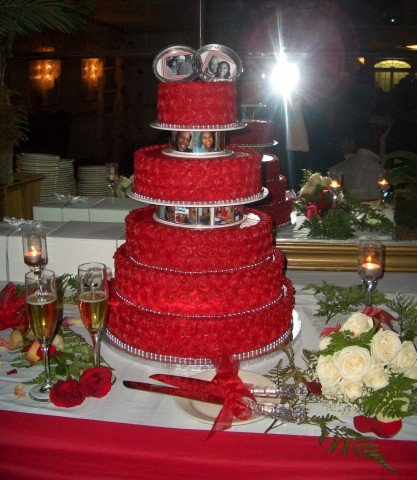 red wedding table decorations ideas