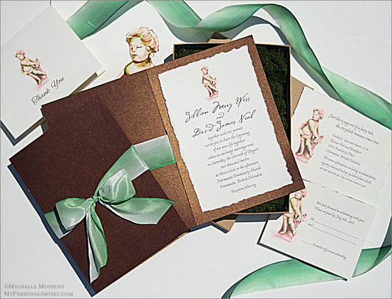 italianSTATUEinvitations Top Handmade Wedding Invitations Ideas