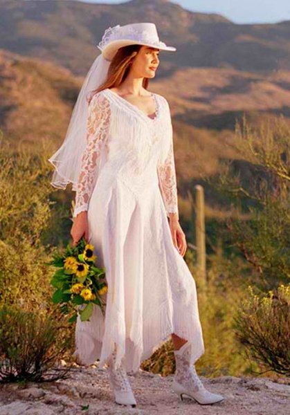 western wedding dresses with