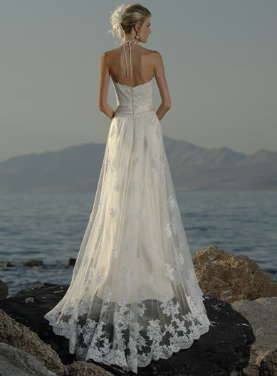 beach wedding dresses lace. Elegant Casual Beach Wedding