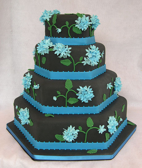 black and blue Blue Wedding Cakes Photo Black and Blue Wedding Cakes