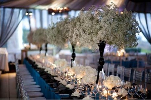 babysbreath3 whitelilycinc Winter Wedding Table Decorations Collections