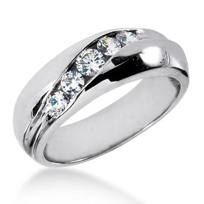 mens wedding bands with diamonds