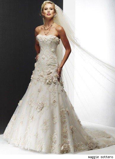 Vintage Wedding Dresses Maggie Sottero : Crysties blog: vintage lace wedding dress sneak peek melissa