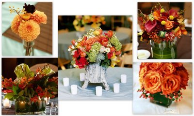 October Wedding Flowers Image