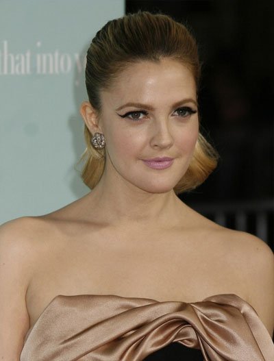 Celebrity Hair Drew Barrymore Slick Ponytail Hairstyle