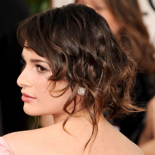 lea michelle hair golden globes