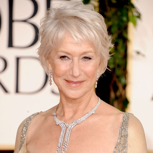 Haircuts For Women 60 Years Old: How To Get Helen Mirren's Golden Globes Hairstyle