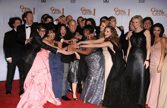 Glee is the big Golden Globe winner for best musical or comedy TV series!