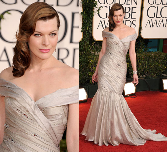 Milla Jovovich at 2011 Golden G...