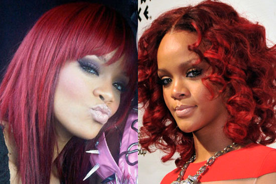 Yesterday was a banner day in the celebrity world of hair. Rihanna went from
