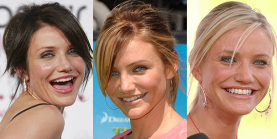 cameron diaz haircut 2011. cameron diaz dark hair