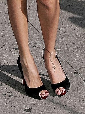 Checkout these pictures of ankle tattoos.