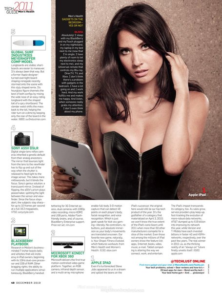 Olivia Munn - Sexy for Men's Health Tech Guide 2011