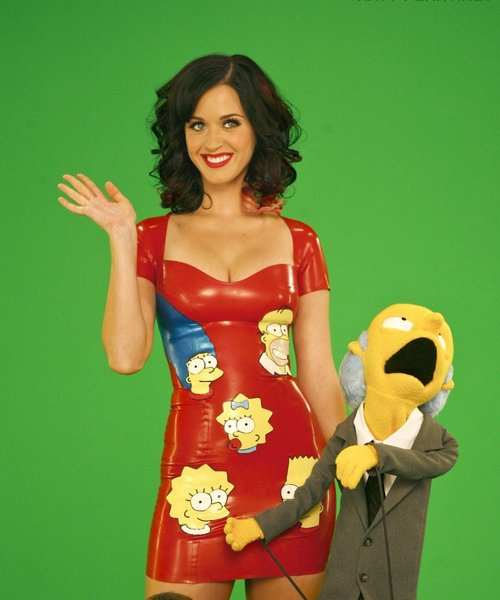 Katy Perry - 'The Simpsons' - photoshoot