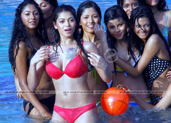 Photos of Hot Bikini Round of Miss Kolkata