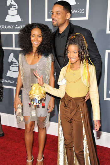 will smith and family 2011. Jada, Will, and Willow Smith