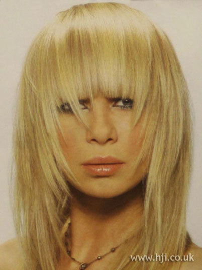 Hot Fringe Long blonde hairstyle long blonde hairstyle with full fringe