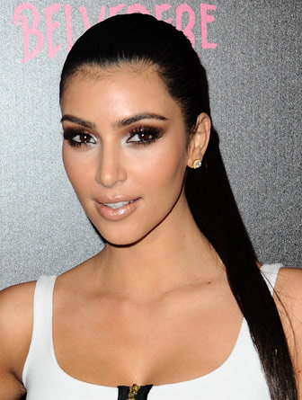 Kim Kardashian with Sleek Ponytail Hairstyles - Beauty and New Looks