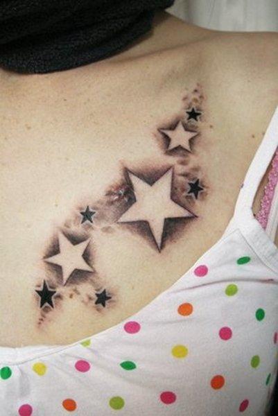 3 star tattoo on hip. girl star tattoos on hip.