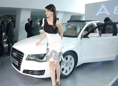 Pics-Yana Gupta At Audi A8 Launch