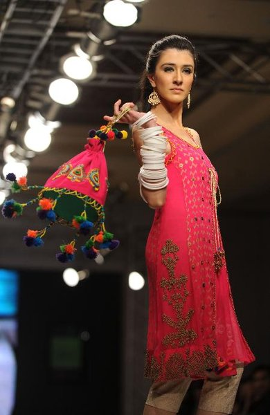 Pakistani Models At Islamabad Fashion Week