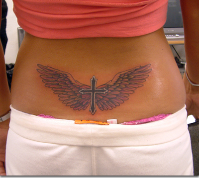 Tattoos Of Wings On The Back. Tagged with: wings tattoos,