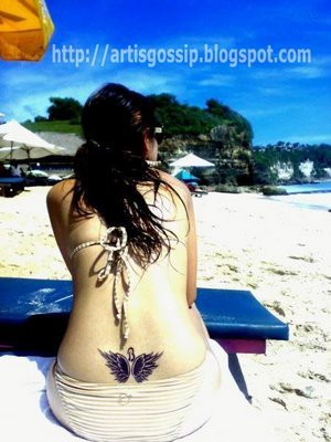 Picture Sexy Girl With Wings Lower Back Tattoos Design