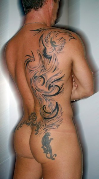 tribal back tattoos for men. Tribal Back Tattoos Men.