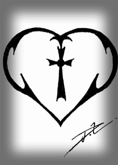 Tribal Heart Tattoos For Women. tribal heart tattoos