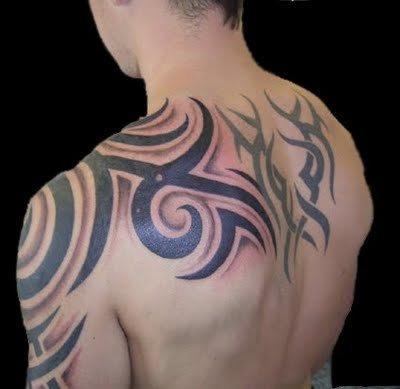 Upper  Tattoos on Tribal Upper Arm Tattoo
