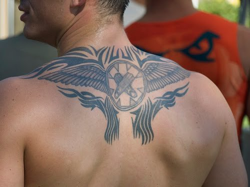 Upper back tattoos are hot